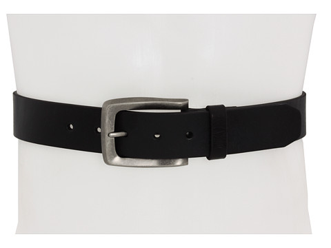John Varvatos - 38mm Strap (Black Leather/Nickel) Men's Belts