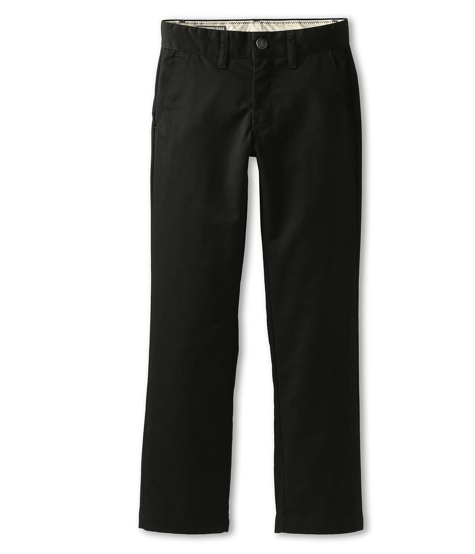 Volcom Kids - Frickin Modern Chino (Big Kids) (Black) Boy's Casual Pants