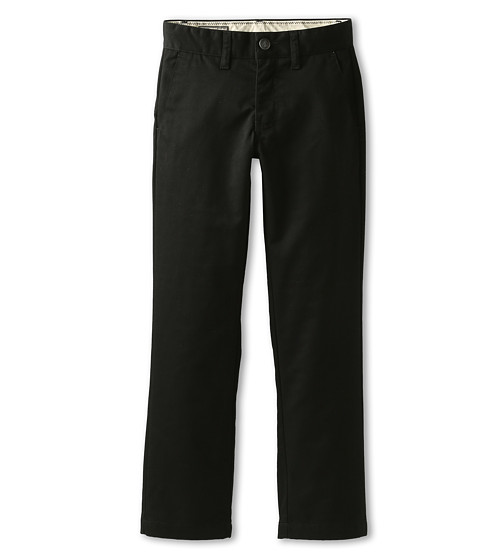 Volcom Kids - Frickin Modern Chino (Big Kids) (Black) Boy's Casual Pants