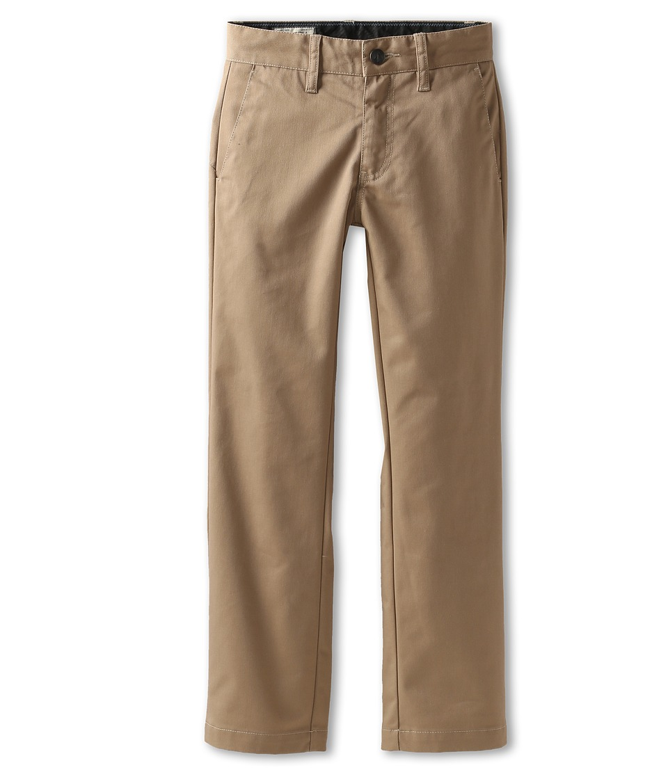 Volcom Kids - Frickin Modern Chino (Big Kids) (Khaki) Boy's Casual Pants