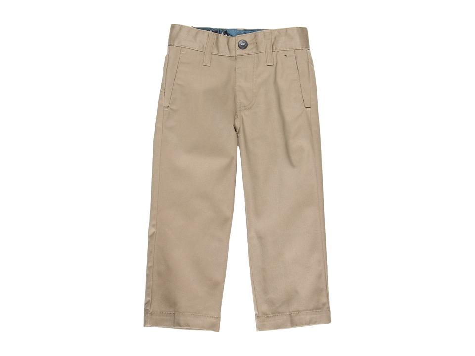 Volcom Kids - Frickin Modern Chino (Toddler/Little Kids) (Khaki) Boy's Casual Pants
