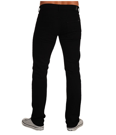 7 For All Mankind - Slimmy Slim Straight in Black Out (Black Out) Men's Jeans