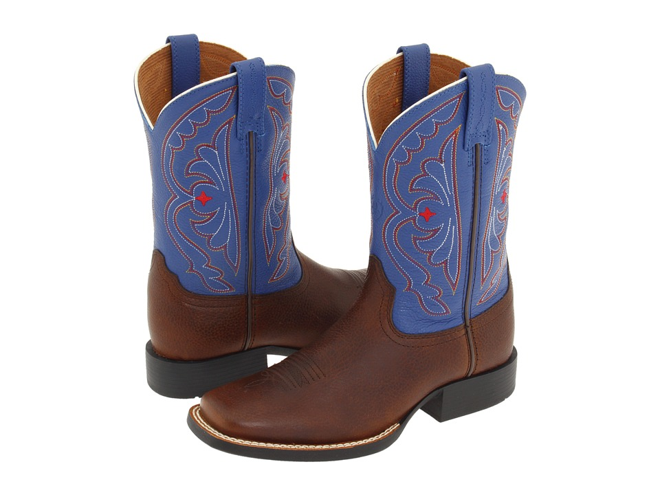 Ariat Kids - Quickdraw (Toddler/Little Kid/Big Kid) (Brown Oiled Rowdy/Royal) Cowboy Boots