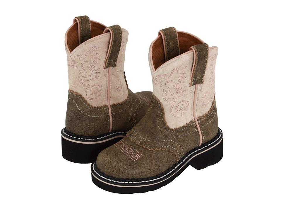 Ariat Kids - Fatbaby Saddle (Toddler/Little Kid/Big Kid) (Brown Bomber/Pink) Cowboy Boots