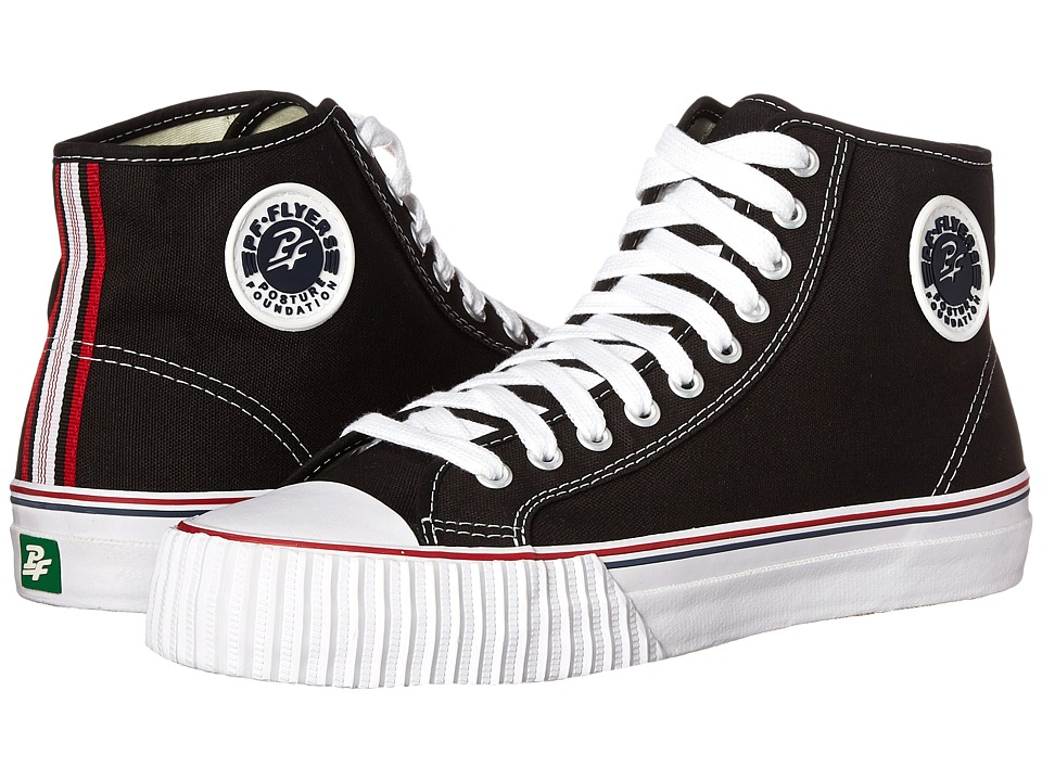 PF Flyers - Center Hi Re-Issue (Black Canvas) Classic Shoes