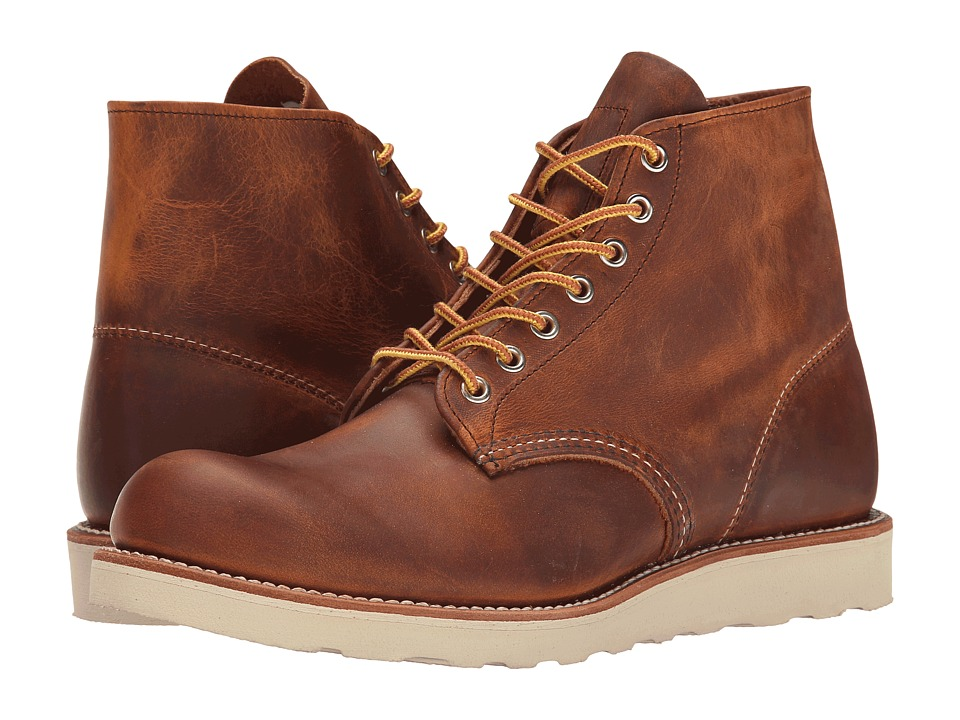 Red Wing Heritage - Classic Work 6 Round Toe (Copper Rough & Tough) Men's Lace-up Boots
