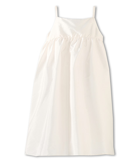Us Angels - Silky Taffeta Empire Dress (Toddler) (Ivory) Girl