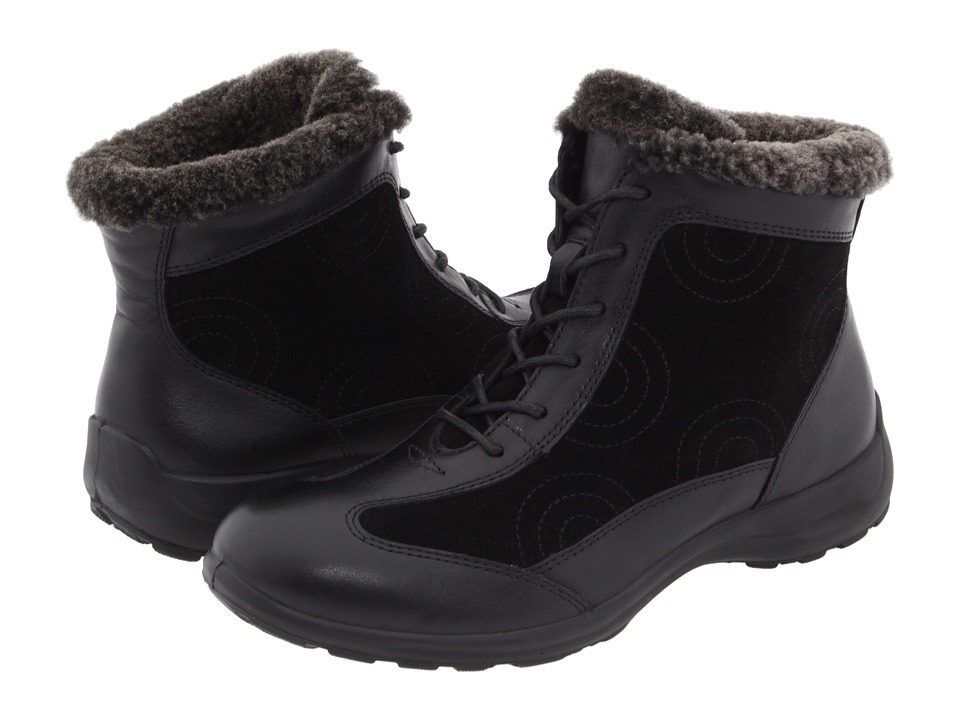 Spring Step - Sanella (Black Leather/Suede) Women's Waterproof Boots