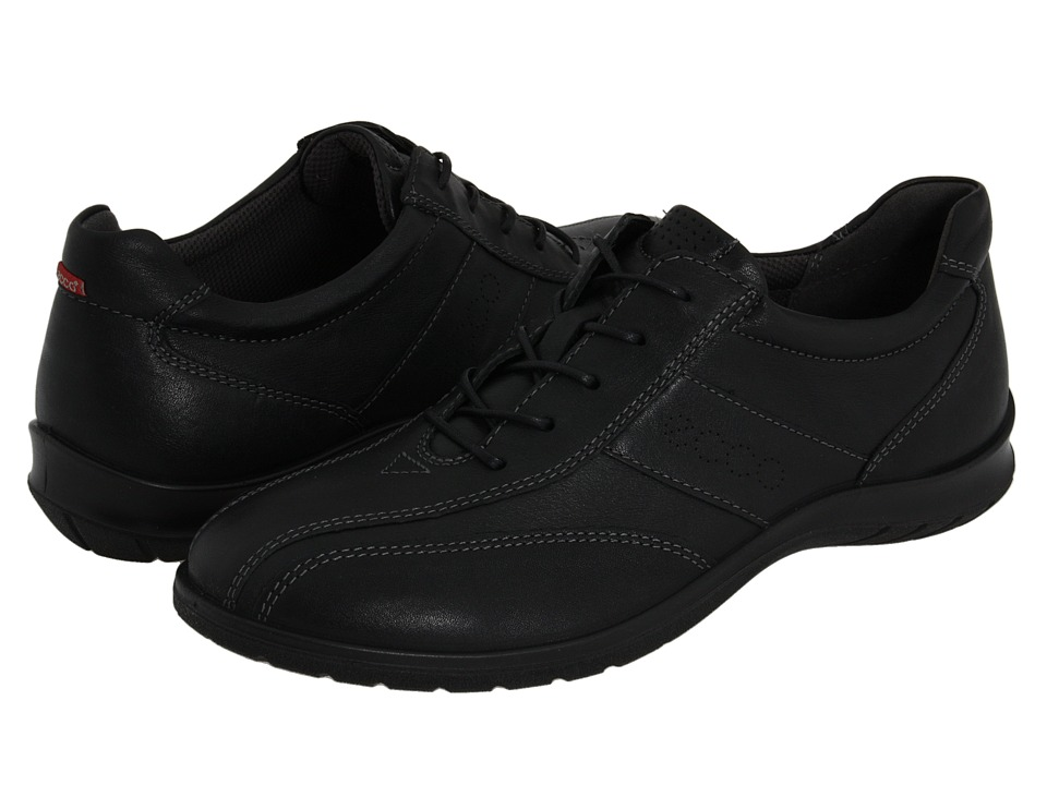 ECCO - Sky Tie (Black Leather) Women's Lace up casual Shoes