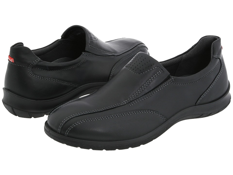 ECCO - Sky Slip-on (Black Leather) Women's Slip on Shoes