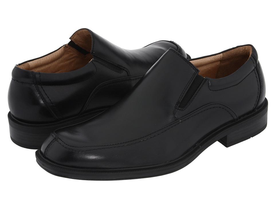 Florsheim - Bogan (Black Leather) Men's Slip-on Dress Shoes
