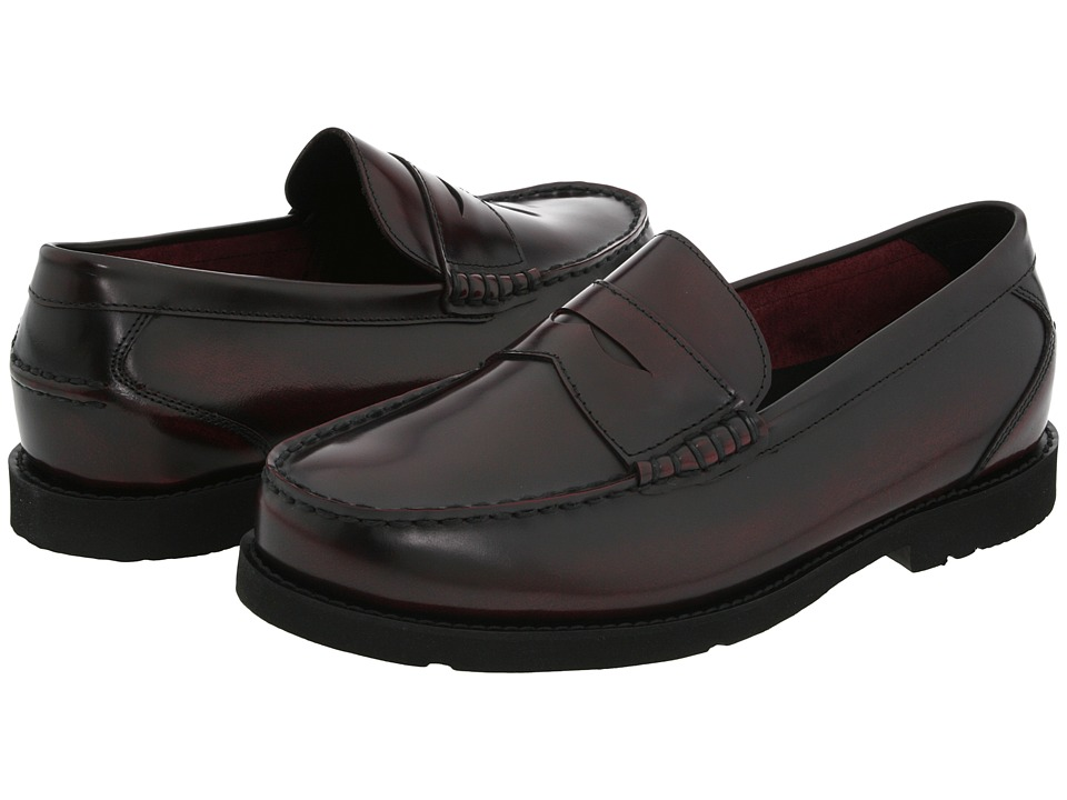 Rockport - Oak Knoll - Shakespeare Circle (Burgundy Brush Off) Men's Slip-on Dress Shoes