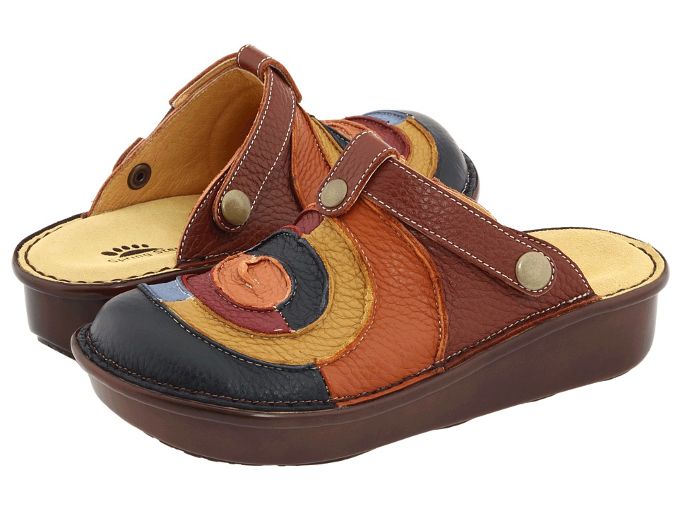 Spring Step - Lollipop (Blue Multi Leather) Women's Clog/Mule Shoes
