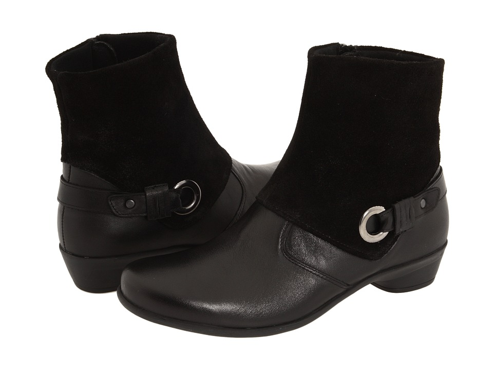 Spring Step - Palmela (Black Leather) Women