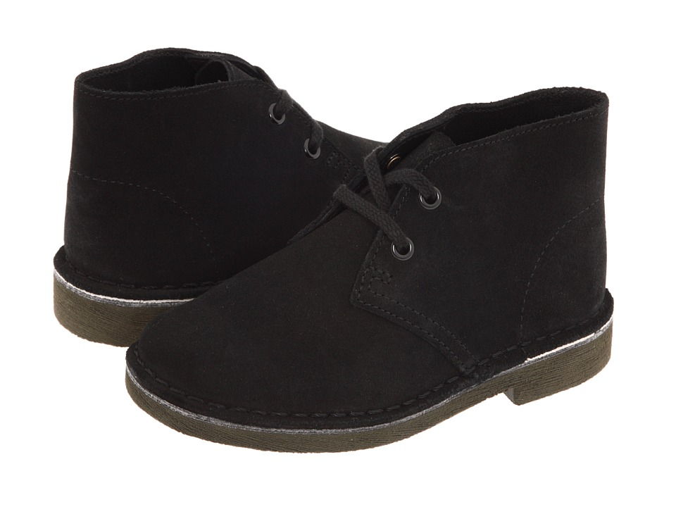 Clarks Kids - Desert Boot (Toddler) (Black Suede) Boys Shoes