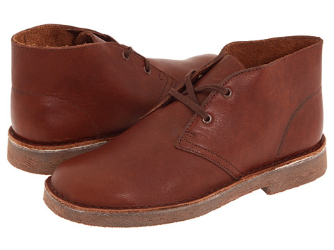 Clarks Kids - Desert Boot (Little Kid) (Chestnut Leather) Boys Shoes