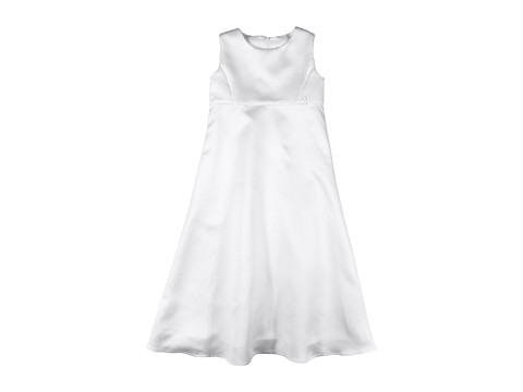 Us Angels - The Satin A-Line Dress (Little Kids) (White) Girl's Dress