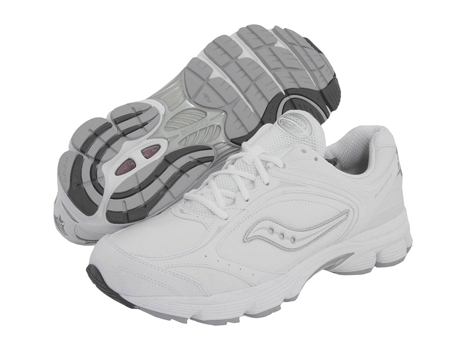 Saucony - ProGrid Echelon LE (White/Silver) Men's Shoes