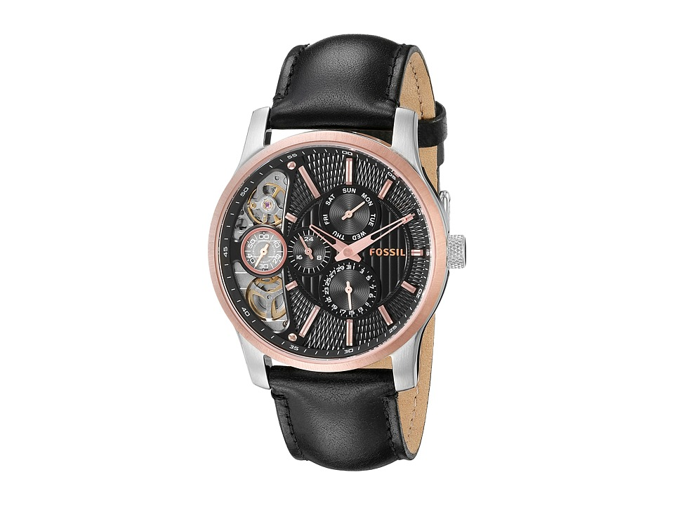Fossil - ME1097 (Black/Black/Rose Gold) Analog Watches