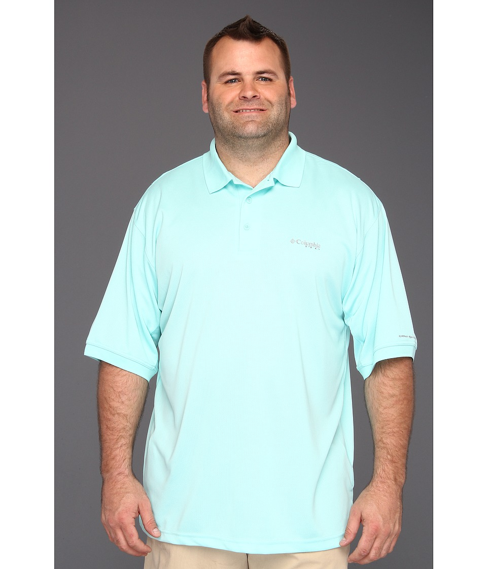 Columbia - Perfect Cast Polo Shirt - Tall (Gulf Stream) Men's Short Sleeve Knit