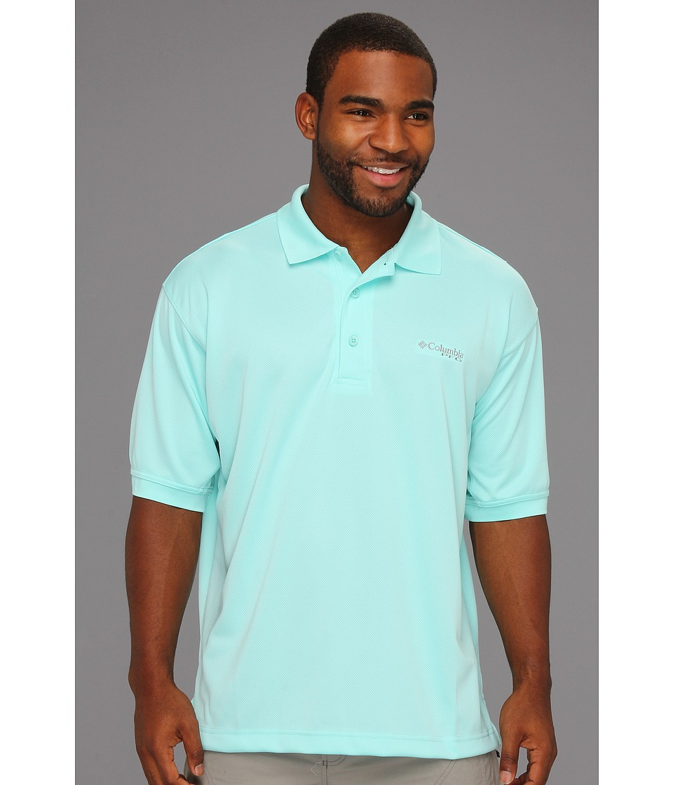 Columbia - Perfect Cast Polo (Gulf Stream) Men's Short Sleeve Pullover