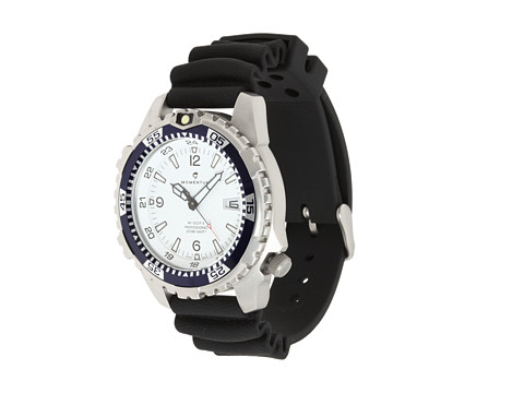 Momentum by St. Moritz - M1 Deep Six (White/Black Rubber) Analog Watches