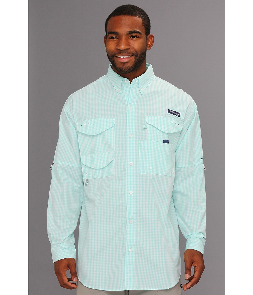 Columbia - Super Bonehead Classic Long Sleeve Shirt (Gulf Stream Gingham) Men's Long Sleeve Button Up