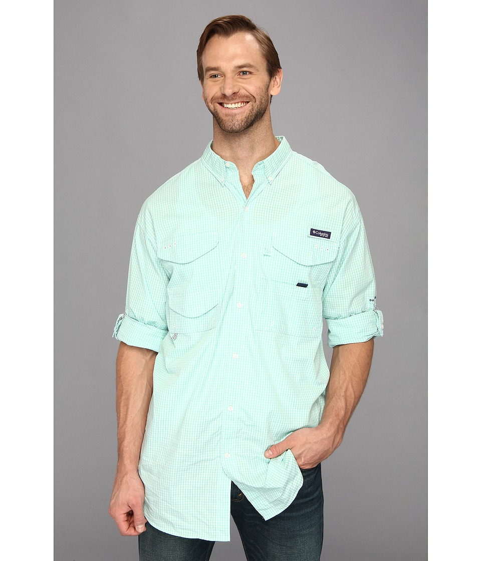 Columbia - Super Bonehead Classic Long Sleeve Shirt - Tall (Gulf Stream Gingham) Men's Long Sleeve Button Up