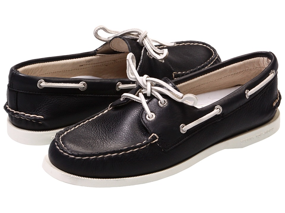 Sperry - A/O 2 Eye (Black Supersoft) Women's Slip on Shoes