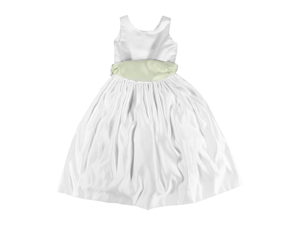 Us Angels - Wide Satin Sash (Little Kids) (Mint) Girl's Belts