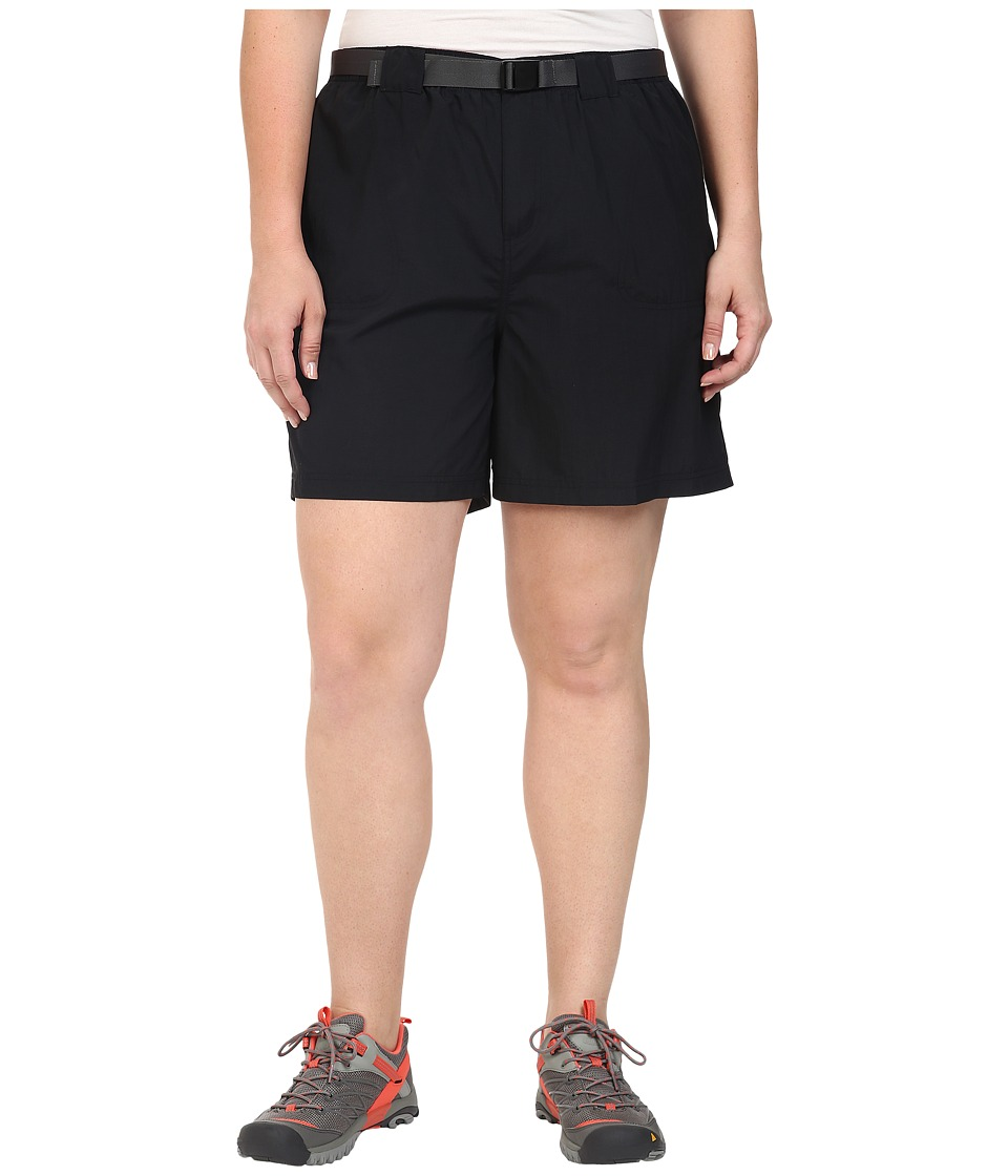 Columbia - Plus Size Sandy River Cargo Short (Black) Women's Clothing