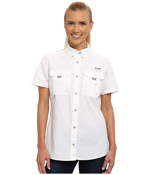 Columbia - Bahama S/S Shirt (White) Women's Short Sleeve Button Up