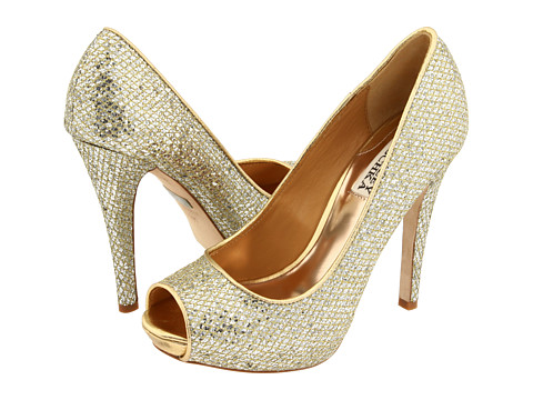 Badgley Mischka - Humbie II (Gold Glitter) High Heels