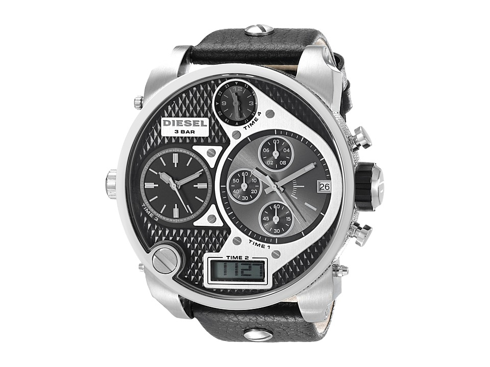 Diesel - Mr. Daddy DZ7125 (Black/Black/Silver) Chronograph Watches