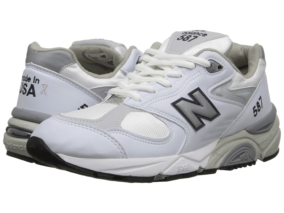 New Balance - W587 (White/Navy) Women's Running Shoes