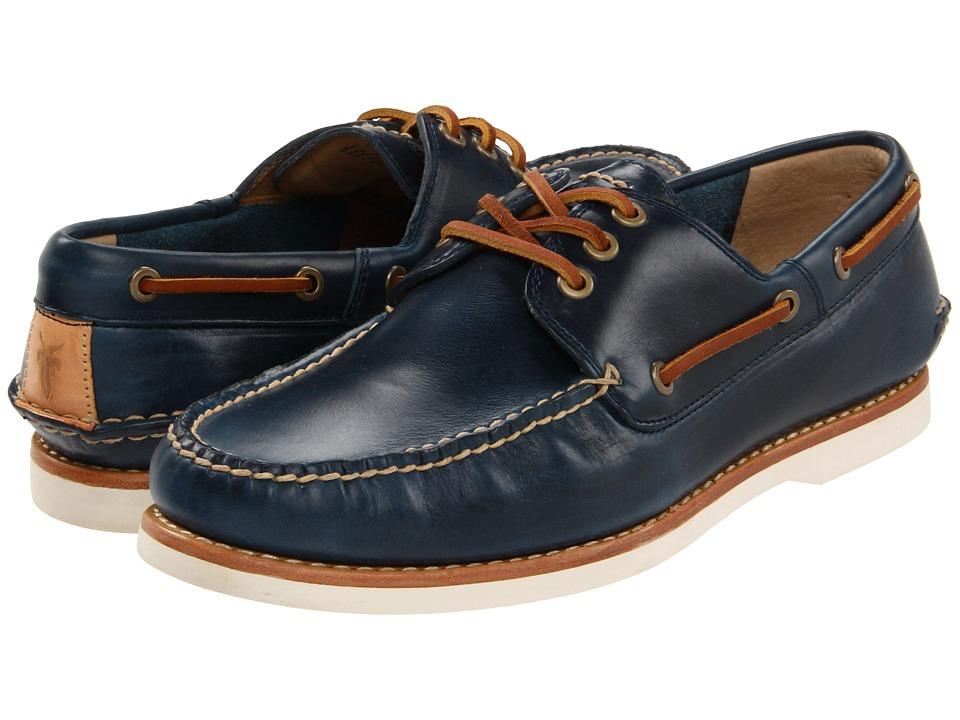 Frye - Sully Boat (Blue Smooth) Men