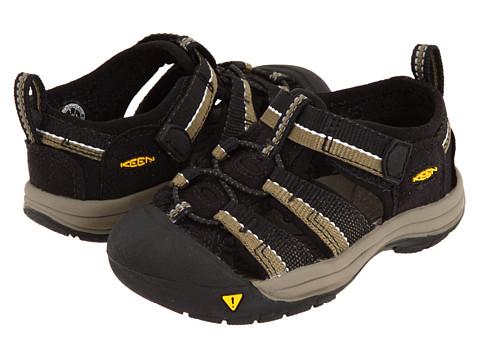 Keen Kids - Newport H2 (Toddler) (Black/Stone Gray) Boys Shoes