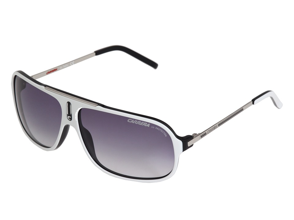 Carrera - Cool/S (White/Black/Palladium/Grey Gradient) Fashion Sunglasses