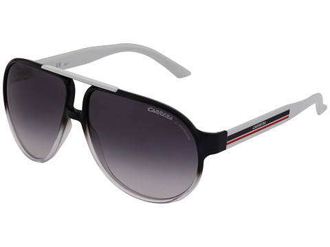 Carrera - Forever Mine/S (Black/Crystal/White/Grey Shade) Fashion Sunglasses