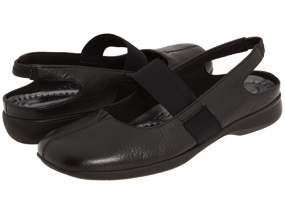 Trotters - Jeri (Black Soft Tumbled) Women's Sling Back Shoes
