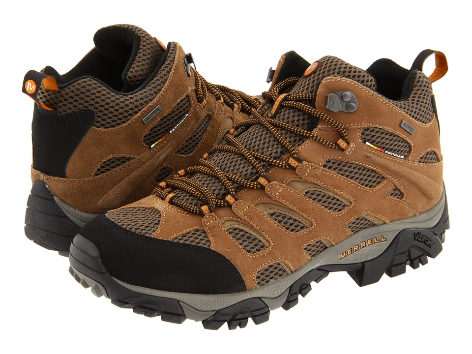 Merrell - Moab Mid Waterproof (Earth Leather) Men's Hiking Boots