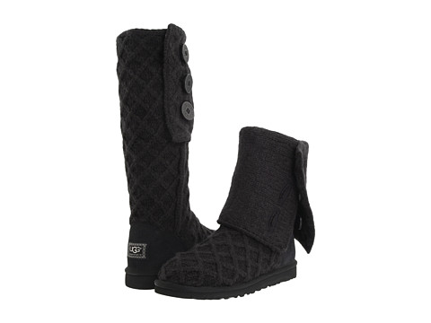 Shoes Online Sale UGG - Lattice Cardy (Black) Women's Pull-on Boots