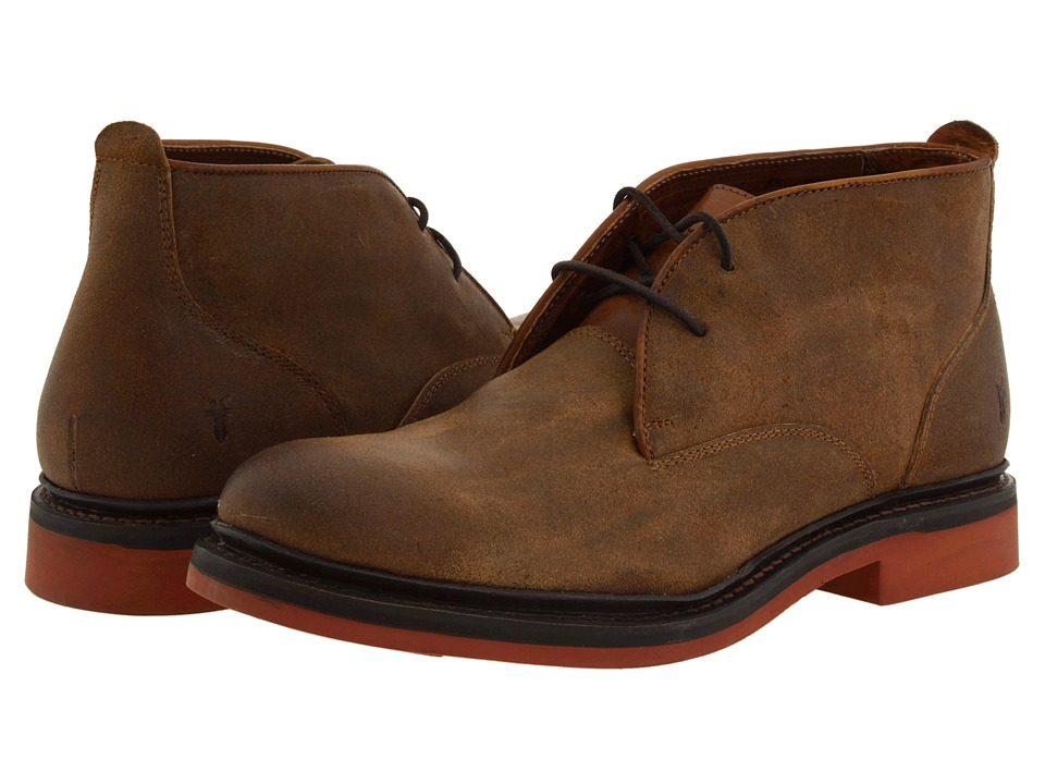 Frye - Wallace Chukka (Tan Oiled Suede) Men's Lace up casual Shoes