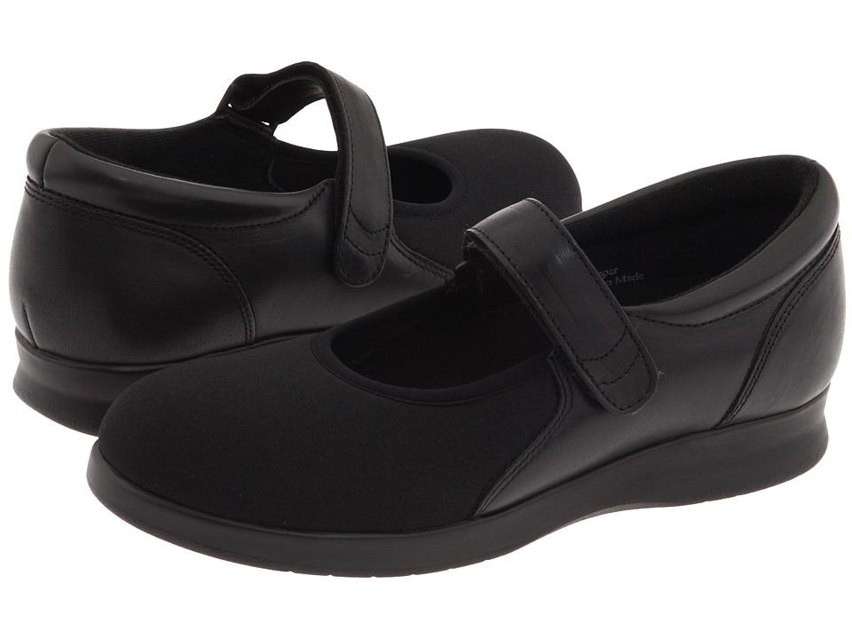 Drew - Bloom II (Black Leather/Stretch) Women's Maryjane Shoes