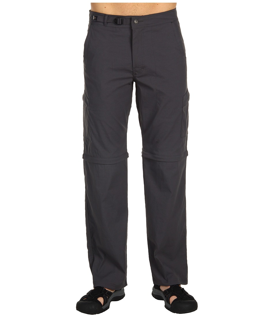 Prana - Stretch Zion Convertible Pant (Charcoal) Men's Casual Pants