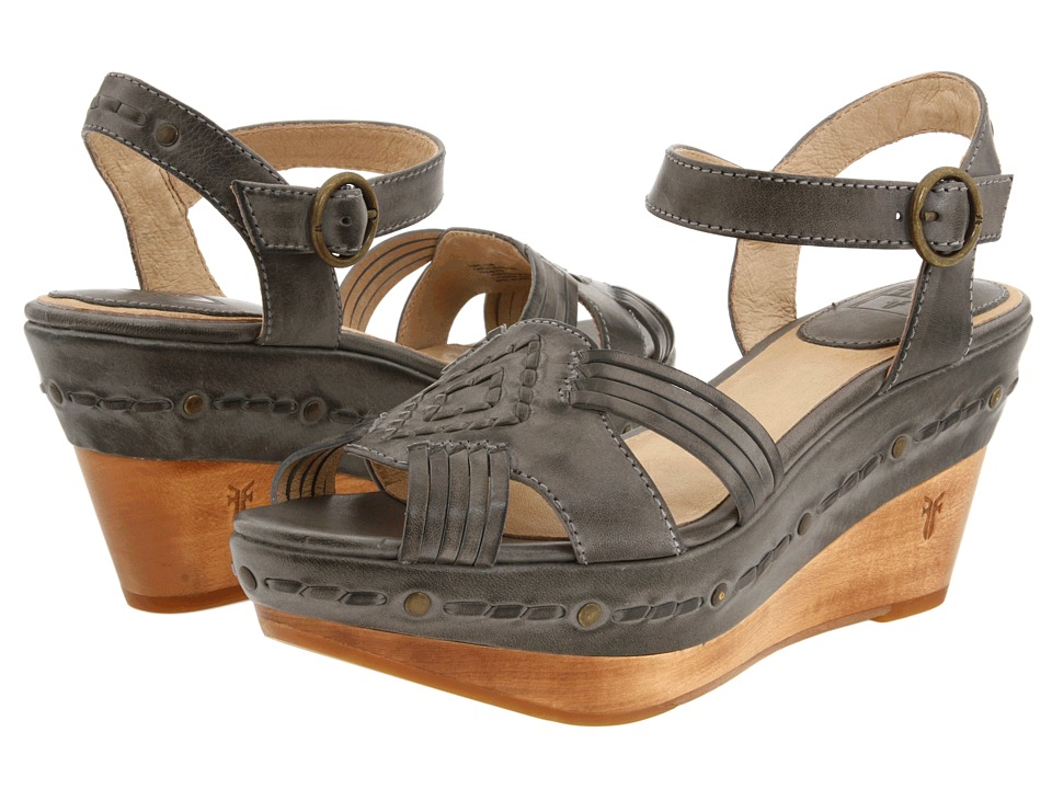 Frye - Carlie Huarache Ankle (Slate Leather) Women