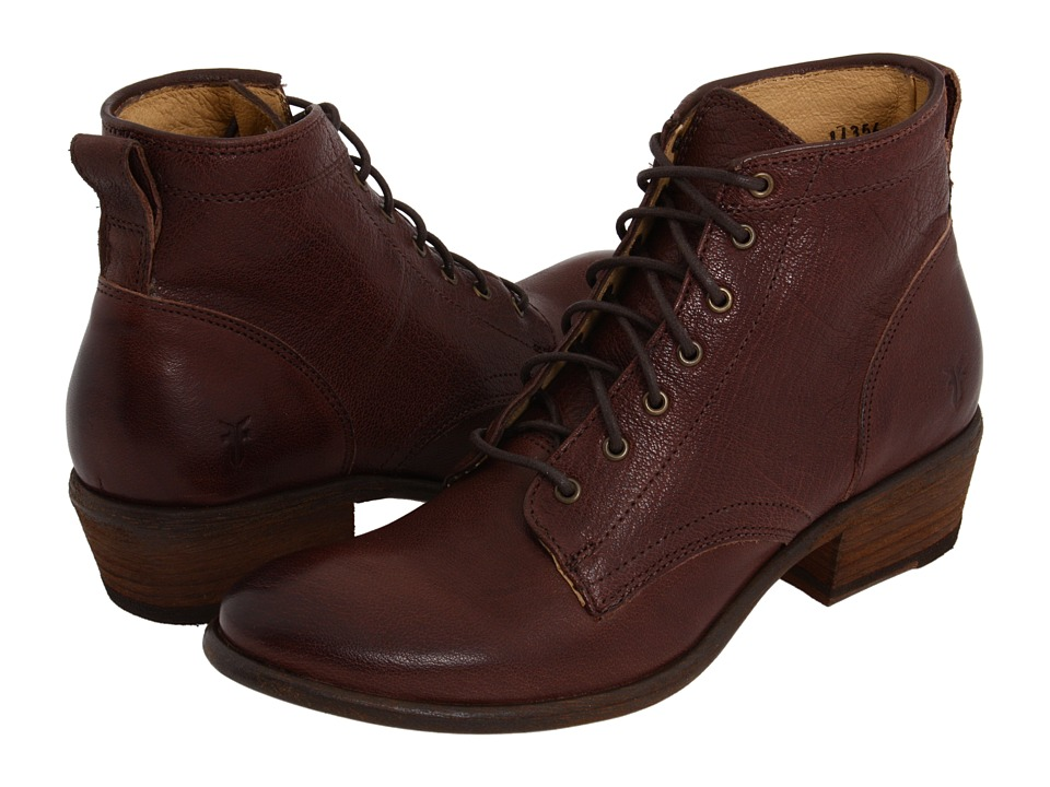 Frye - Carson Lace Up (Dark Brown Soft Leather) Cowboy Boots