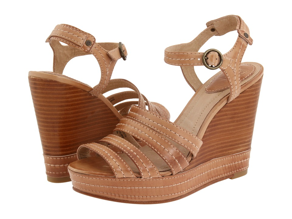 Frye - Corrina Stitch (Sand Soft Yellow) Women's Wedge Shoes