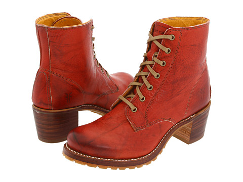 Frye - Sabrina 6G Lace Up (Burnt Red) Women's Lace-up Boots