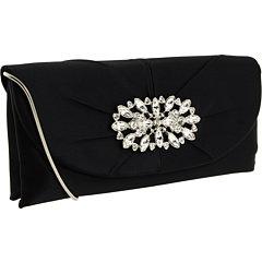 SALE! $56.99 - Save $83 on Franchi Handbags Cara Clutch (Black) Bags and Luggage - 59.29% OFF $140.00